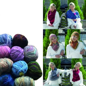 James Brett Marble Chunky Knit Accessories Bundle