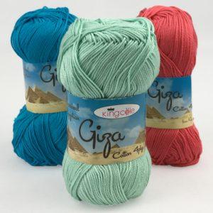 King Cole Giza 4 Ply Cotton Yarn