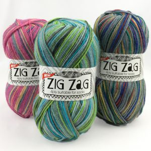 King Cole Zig Zag 4 Ply Yarn