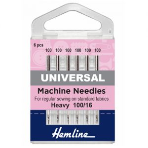 Heavy Universal Sewing Machine Needles – 100/16 – 5 Pieces