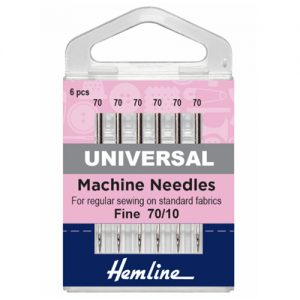 Fine Universal Sewing Machine Needles – 70/10 – 5 Pieces