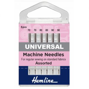 Mixed Universal Sewing Machine Needles – 5 Pieces