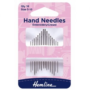 Hemline Embroidery/Crewel Hand Sewing Needles – Size 5-10