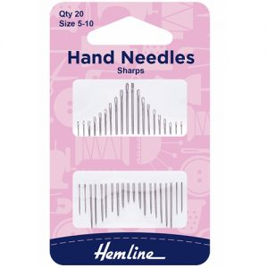 Hemline Sharps Hand Sewing Needles – Size 5-10