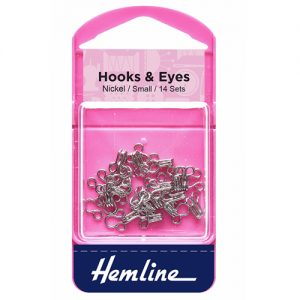 Hemline Hook and Eyes – Nickel – Size 1