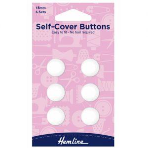 Hemline Nylon Self Cover Buttons – 15mm
