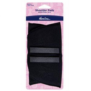 Hemline Standard Set-In Shoulder Pads – Medium – Black
