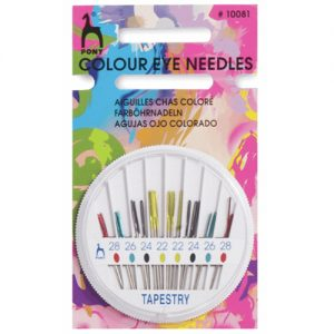 Pony Tapestry Colour Coded Eye Hand Sewing Needles
