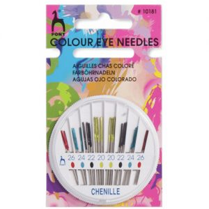 Pony Chenille Colour Coded Eye Hand Sewing Needles – Pack of 24