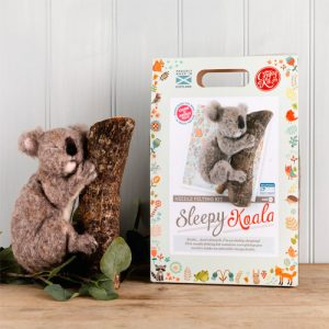 The Crafty Kit Co – Sleepy Koala Needle Felting Kit