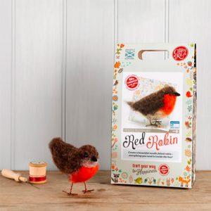The Crafty Kit Co – British Birds Robin Needle Felting Kit
