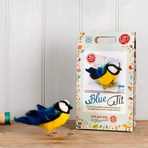The Crafty Kit Co – British Birds Blue Tit Needle Felting Kit