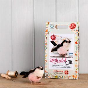 The Crafty Kit Co – British Birds Long Tailed Tit Needle Felting Kit