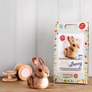 The Crafty Kit Co – Baby Bunny Needle Felting Kit