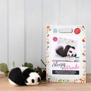 The Crafty Kit Co – Sleepy Panda Needle Felting Kit