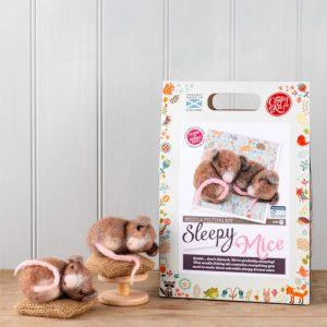 The Crafty Kit Co – Sleepy Mice Needle Felting Kit