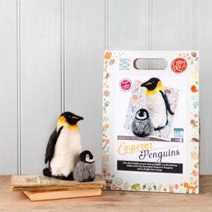 The Crafty Kit Co – Emperor Penguins Needle Felting Kit