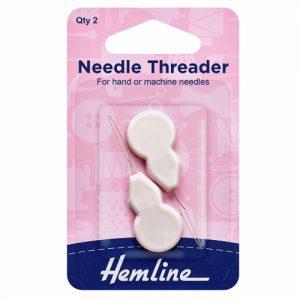 Hemline Plastic Handle Needle Threader – Pack of 2