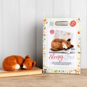 The Crafty Kit Co – Sleepy Fox Needle Felting Kit