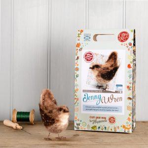 The Crafty Kit Co – Jenny Wren Needle Felting Kit