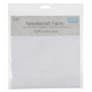 Aida 16 Count Needlecraft Fabric – 30 x 45cm – White