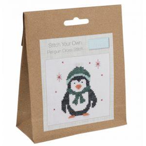Mini Counted Cross Stitch Kit – Penguin