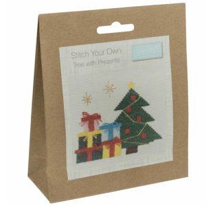 Mini Counted Cross Stitch Kit – Presents